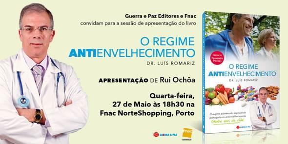 Apresentação do Livro do Dr. Luis Romariz - O Regime Anti Envelhecimento
