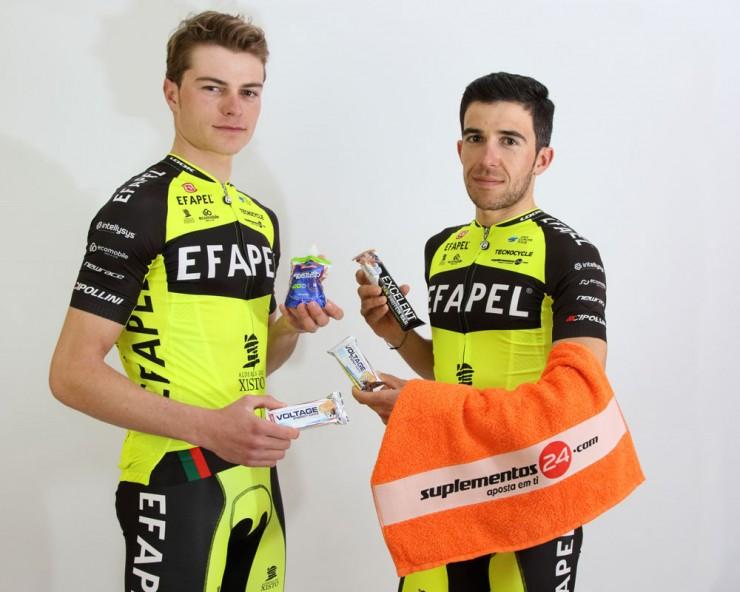 Equipa Profissional de Ciclismo Efapel com o Suplementos24